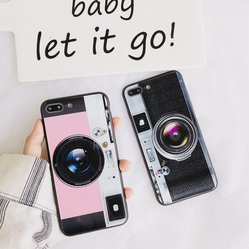 buy online 023a1 b12ed US $3.99 |With Video Fashion 3D Old Camera For iPhone X Case Cool Lens  Balloon stent Phone Case For iphone 6 6s 7 8 Plus Cover TPU Protect-in  Fitted ...