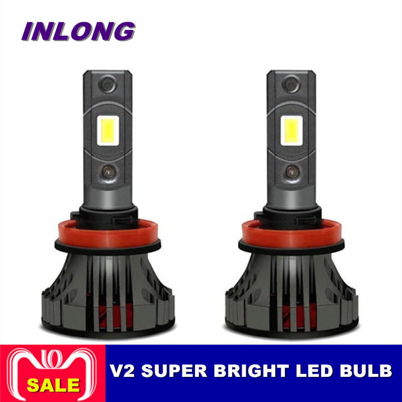 Inlong 2 pcs Voiture Phare H3 H7 H1 H4 H11 H1 9005 HB4 50 W 12000LM Canbus Voiture LED Phares 6000 K Ampoule Brouillard Lumières Projecteur
