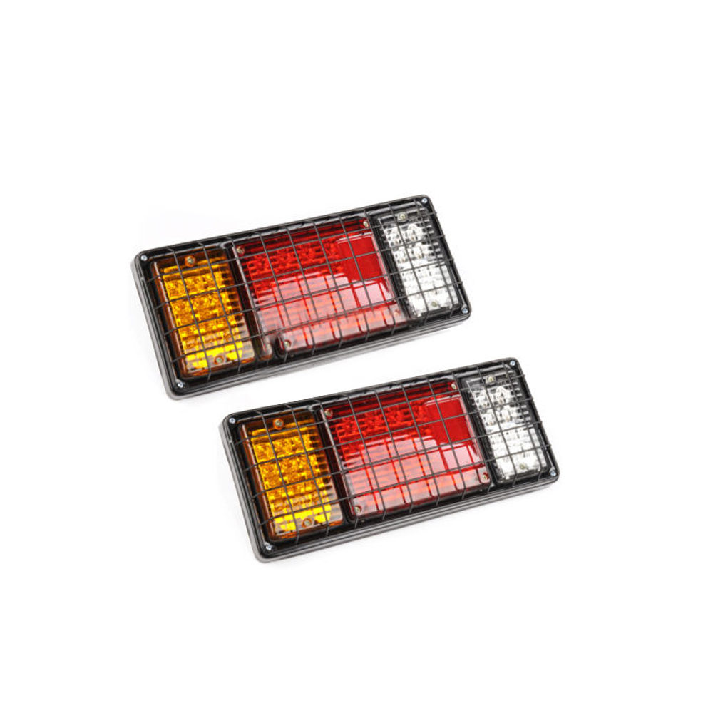 2PCS 12V Truck LED Tail Light Rear Lamp Stop Reverse Safety Indicator Fog Lights Waterproof For Trailer Car Truck Taillights