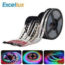Excellux 5M WS2812 WS2812B Pixel LED bande 5050 RGB 30/60LED s DC5V WS2812 numérique LED Pixel bande étanche blanc/noir PCB
