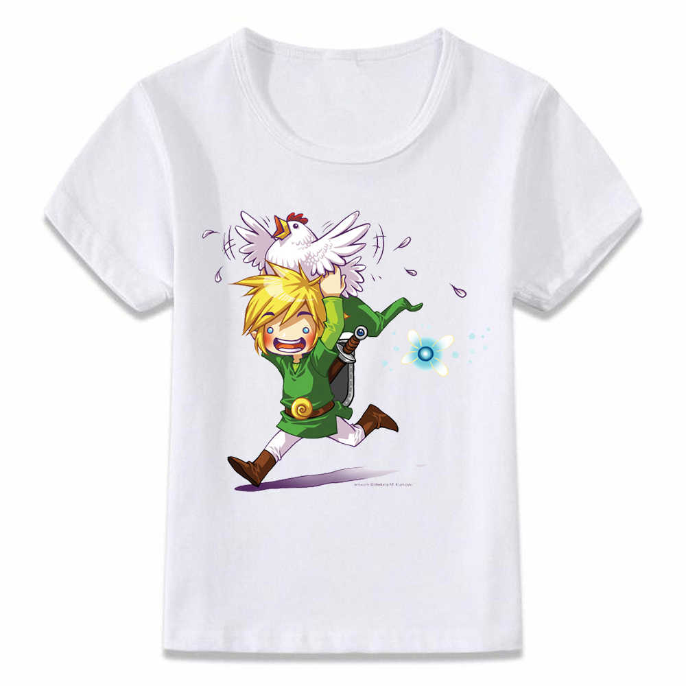 子供服 Tシャツ息野生のリンクウェイクアップゼルダの伝説 Tシャツ少年少女のための幼児シャツ