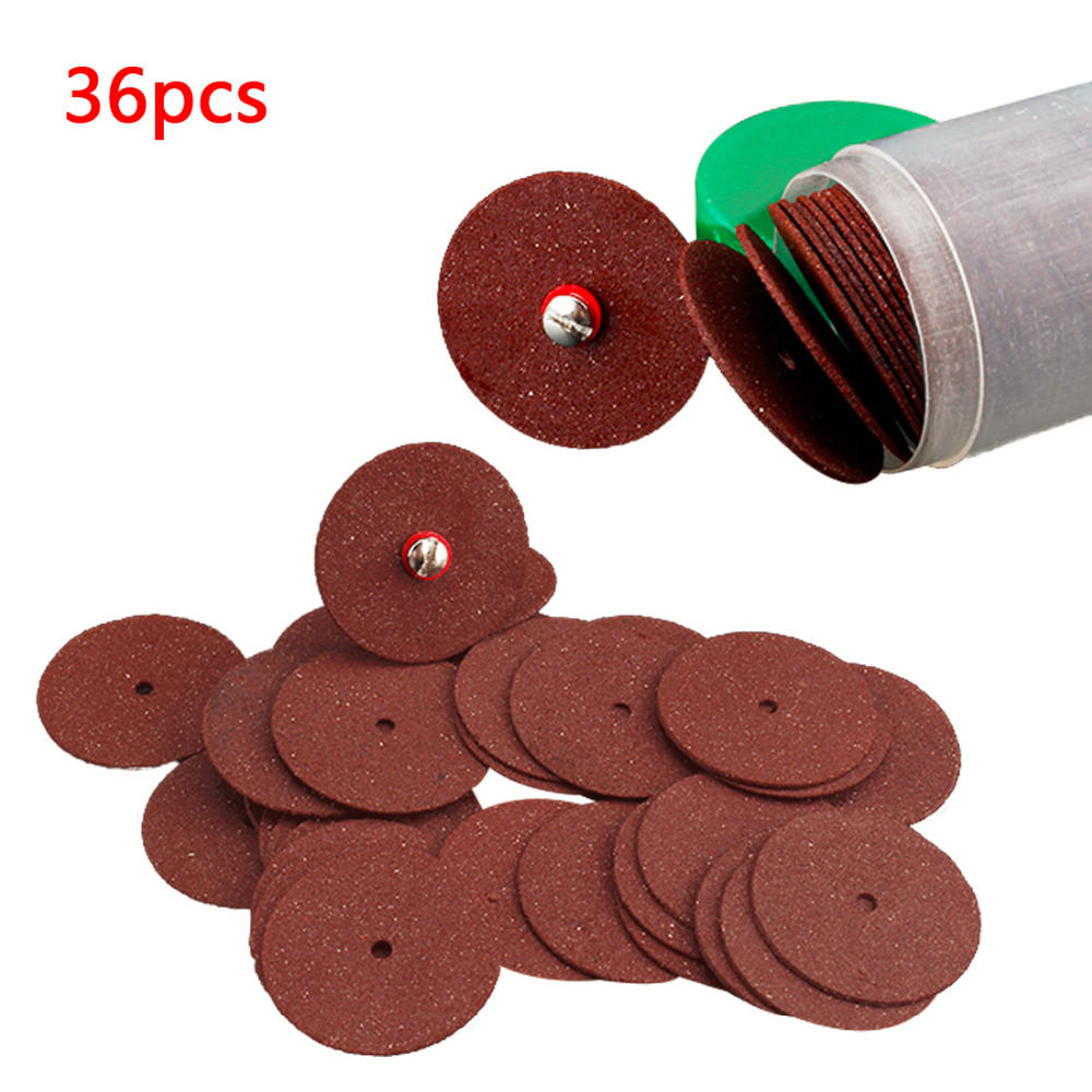 36 pcs Resin Cutting Wheel Disc Cut Off Set Bit Kit For Dremel Rotary Tool Dremel Accessories 51pc 25mm cut off wheel dental metalworking dremel accessories for rotary tools