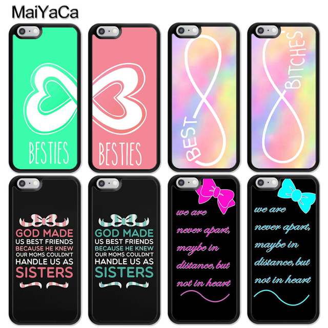 best service f6502 f0355 US $3.29 5% OFF|MaiYaCa Quote Besties Infinity Best Friends BFF Matching  Soft Rubber Phone Cases For iPhone 6S 7 8 Plus X XR XS MAX 5S SE Cover-in  ...