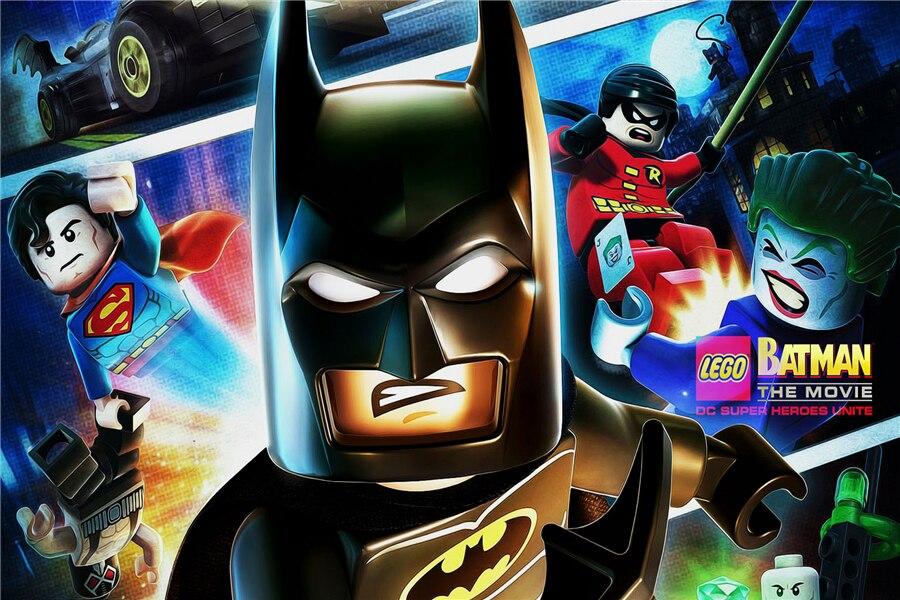Лига Справедливости Стикеры Супермен Робин вспышки Lego обои DC Comics плакат Lego Наклейки на стену Джокер Бэтмен росписи декора #2680 #