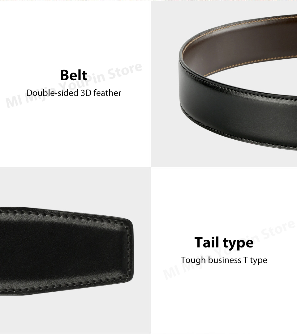 Original xiaomi mijia seven-sided Italian leather double-sided business belt 3.5cm two-color double-sided cut length (14)