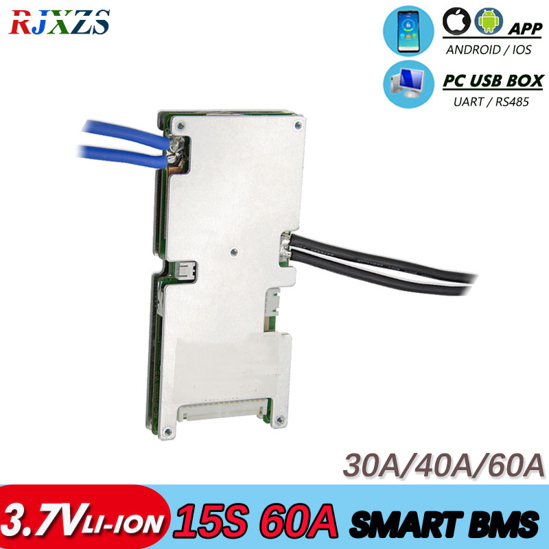 bms 15S 30A 40A 60A 63V active bms new Li ion smart bms pcm with android