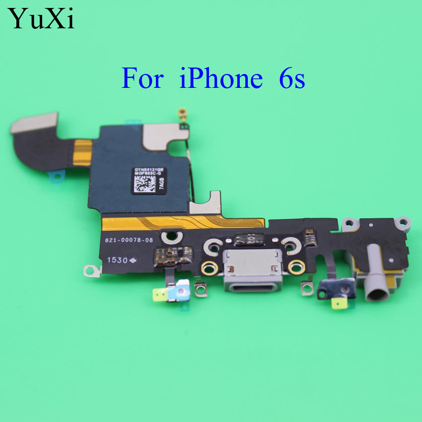 100% new High quality replacement for <font><b>iPhone</b></font> <font><b>6s</b></font> 4.7 charging port charger dock <font><b>connector</b></font> flex cable with Headphone Audio Jack image