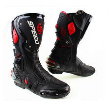 Riding Tribe Microfiber Leather Motorcycle Boots Pro Biker SPEED Moto Motor Bike Racing Shoes Motocross Motorbike Boots