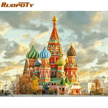 Ruopoty 프레임 성 diy 그림 번호 프리 키트 handpainted 유화 홈 장식 40x50 cm 삽화에 대 한 독특한 선물