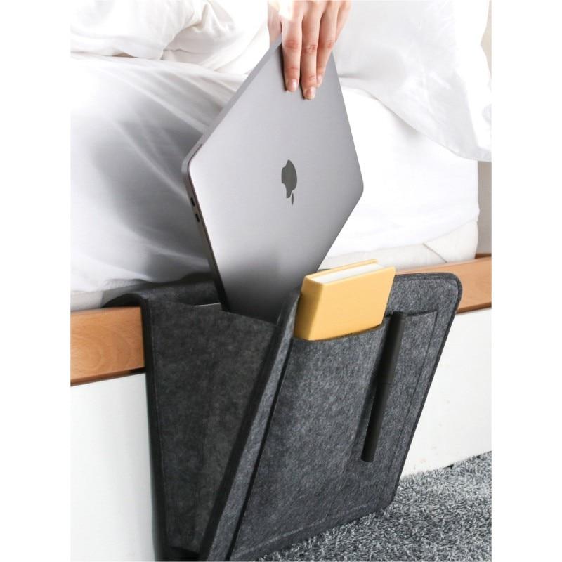 Hanging storage bag portable bedside household storage bag sundries book remote control bag magazine mobile phone storage box