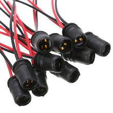 For Car Truck Boat Socket Connector 10pcs/set T10 W5W Wedge Light Bulb Holder for