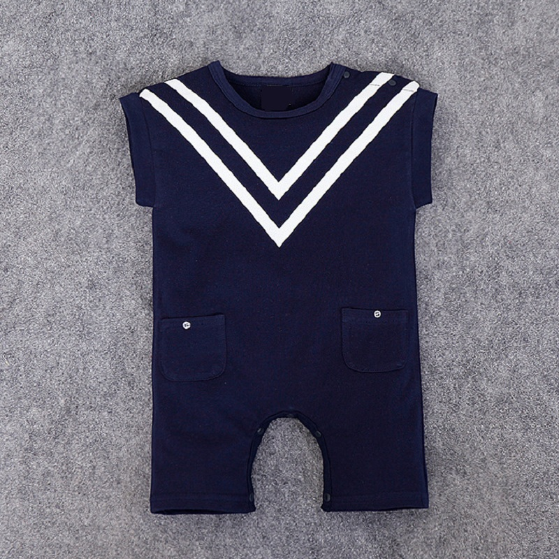 2017 Baby Boy Sailor Romper Newborn Cotton Navy Romper Baby Boy Jumpsuit Summer Baby Clothing Climb Clothes summer 2017 navy baby boys rompers infant sailor suit jumpsuit roupas meninos body ropa bebe romper newborn baby boy clothes