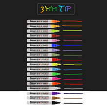 3mm fluorescent chalk board marker Water-Based vibrant colors Simply wipe write smoothly for kids
