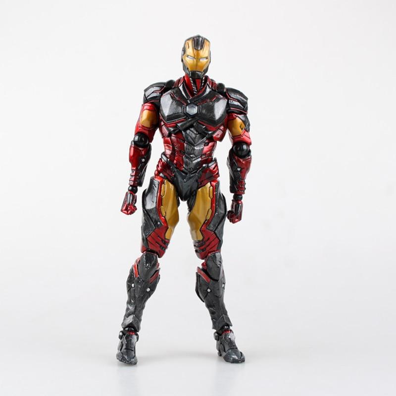 1/6 Scale 26cm Play Arts Marvel Avengers 25cm Iron Man Civil War Super Hero Ironman PVC Action Figure Toys
