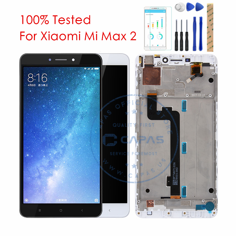 Tested Xiaomi Mi Max 2 LCD Display with Frame Touch Screen Panel Mi Max2 LCD Digitizer