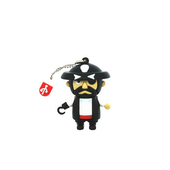 Cartoon Pirate Captain USB Flash Drive Silicone Pendrive USB 2.0 64GB 32GB 16GB 8GB 4GB Pen Drive Flash Drive Gift USB Stick