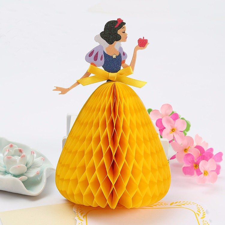 Lovely beautiful snow white princess 3d pop up valentines greeting lovely beautiful snow white princess 3d pop up valentines greeting card handmade greeting cards birthday cards childrens day in craft paper from home m4hsunfo