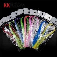 KKWEZVA UV Flashabou Holographic Tinsel Stonefly Nymph Back Jig Body Wrap Lure Fishing Fly Tying Material