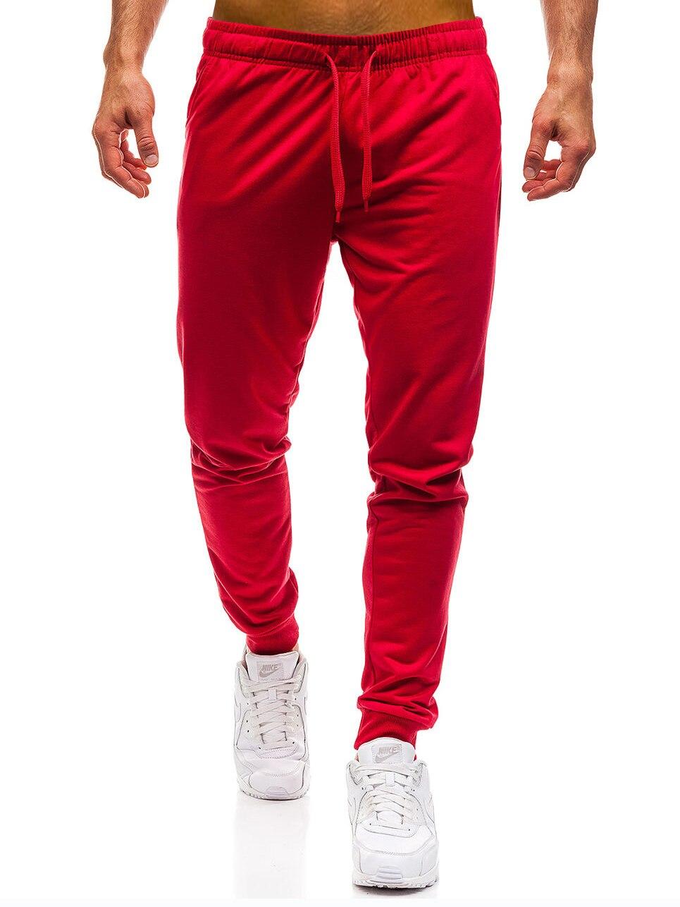 Männer Jogginghose 2018 Marke Mode Koreanischen Wilden Seite Track Casual Jogger Männer Elastizität Lange Hosen Plus Größe Baumwolle Hosen Rot