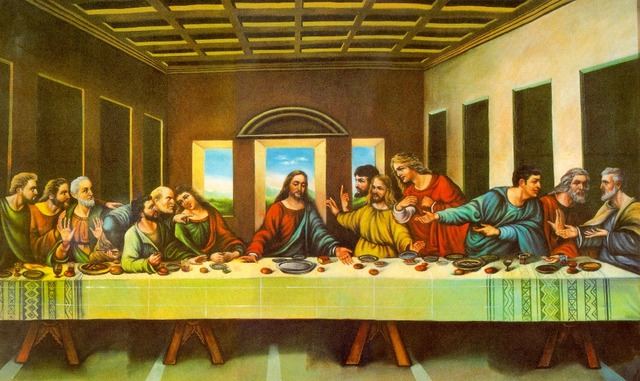 High Quality Leonardo Da Vinci Wall Paintings The Last Supper Huge ...