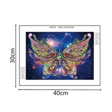 5D DIY Diamond Painting Colored Butterfly Special Shaped Rhinestone Crystal Hot Sale