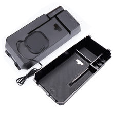 Mobile phone wireless charging car armrest box storage Sundries packing box For Mercedes Benz new C E GLC Class C200 C180 GLC260