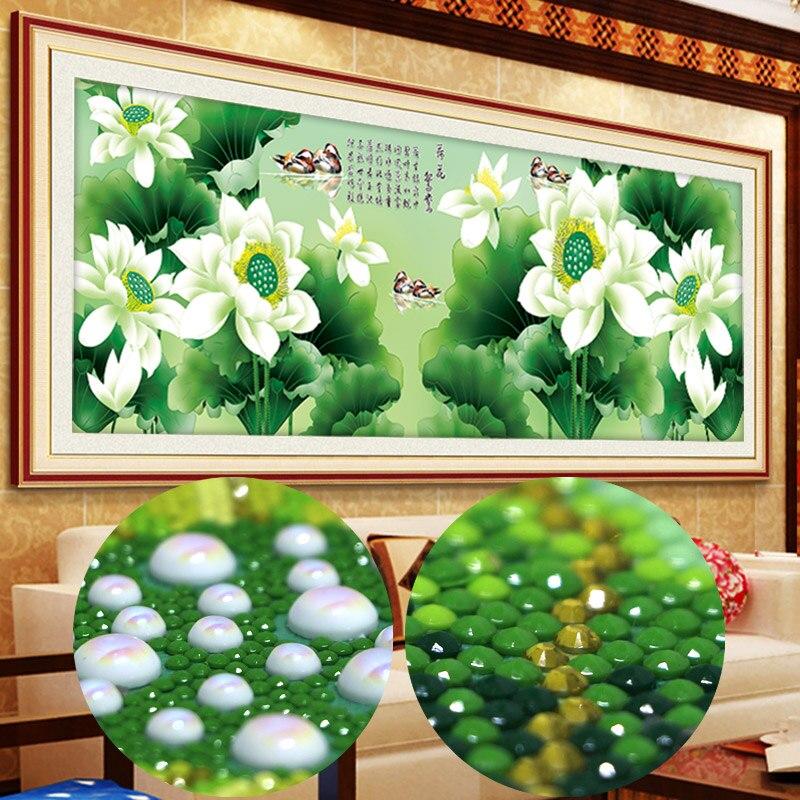 Spécial forme diamant peinture partielle fleurs ronde mosaïque perlée cubo de rubik bordado diamante stickers muraux 5d Lotus canard