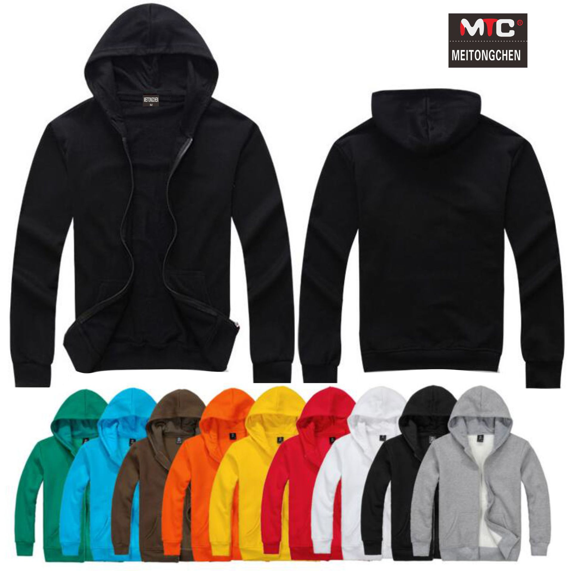 Men Hoodies & Sweatshirts Solid Color Cotton  Hoodie Men 2018 Plus Size S-4XL