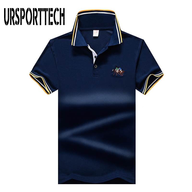 Plus Size M-8XL Men   Polo   Shirt Men 2019 Summer Short Sleeve Horse Embroidery   Polo   Men Brand High Quality Casual Slim   Polo   Homme