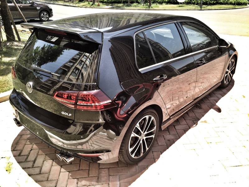 buy golf mk7r gti roof spoiler neuspeed style 100 carbon fiber add on roof. Black Bedroom Furniture Sets. Home Design Ideas