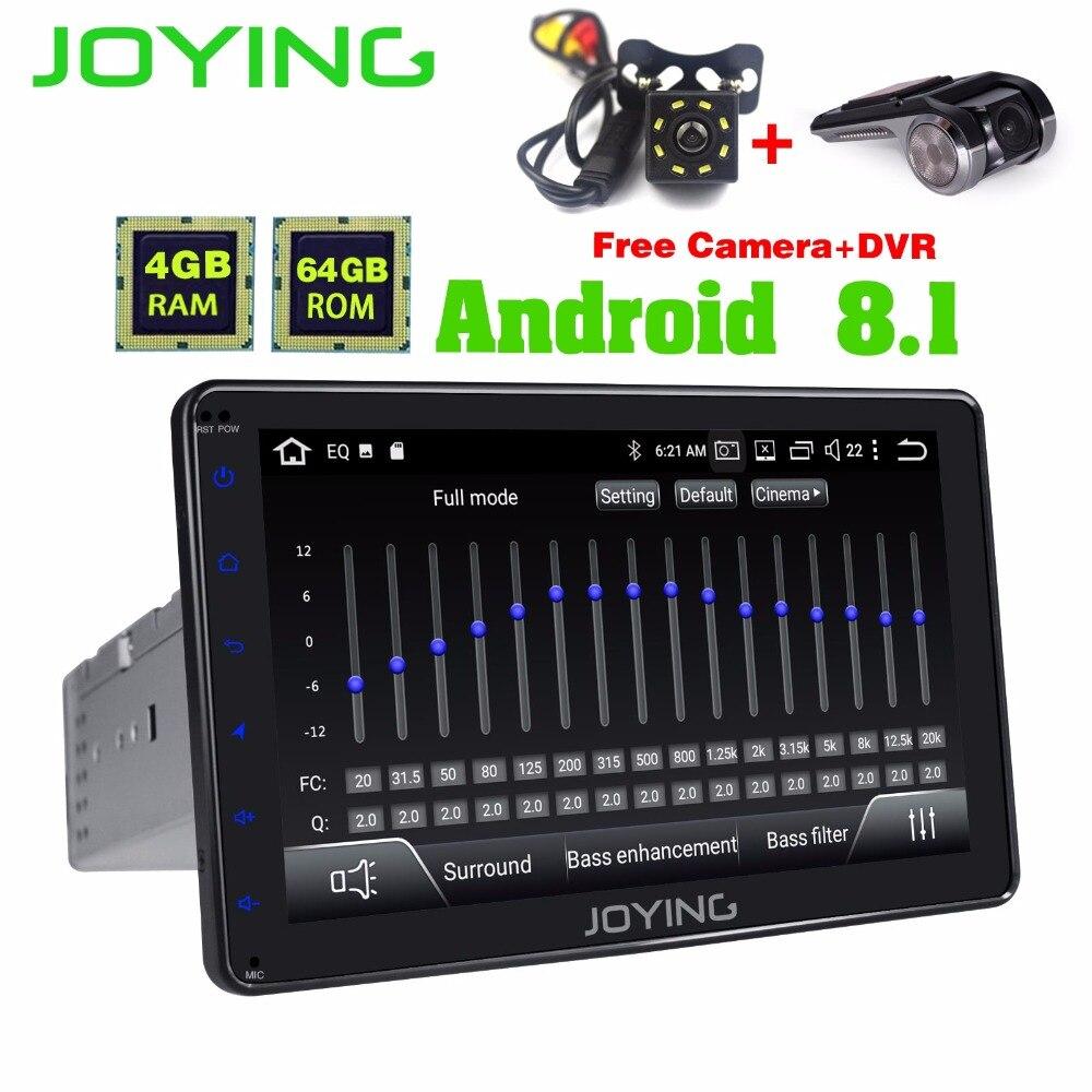 Dernière 1din 8 pouce plein écran tactile 8 Core 4 gb RAM 64 gb ROM Android 8.1 voiture autoradio stéréo GPS Navi système avec DSP Intégré