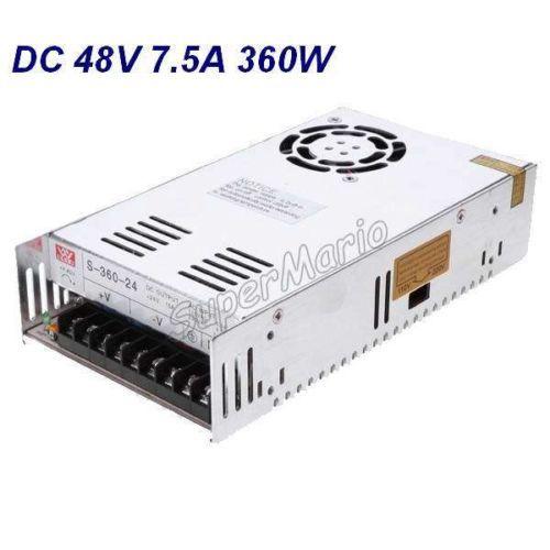 все цены на Hot sale MW High Quality 48V 7.5A 360W DC Regulated Switching Power Supply CNC CNC-38 онлайн