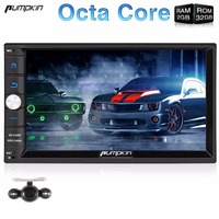 Pumpkin 7 Inch Two Din Android 6.0 Universal Car DVD Player GPS Navigation Qcta-core Car Stereo 1080P Vedio Wifi 3G Auto Radio