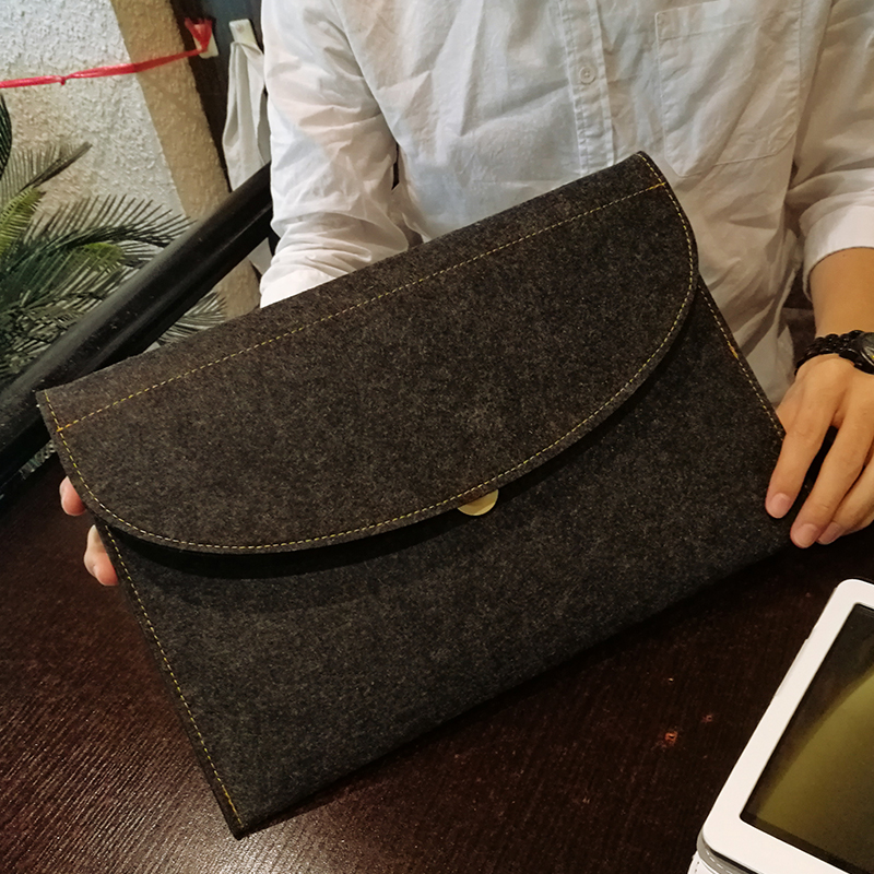 A4 Document Bag File Folder Simple Felt Briefcase Student Paper Receiving Bag Information Bag Stationery And Office Supplies