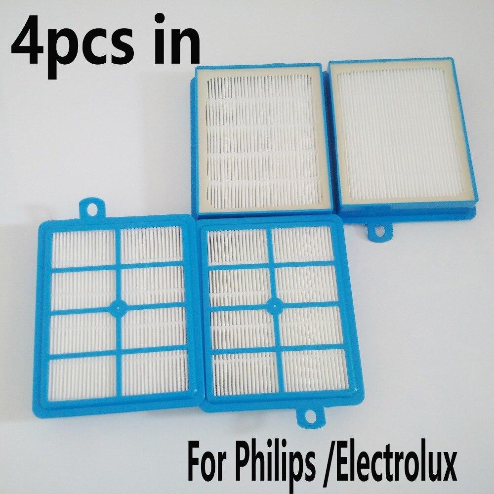 4X H12 HEPA Filter for Electrolux Washable EL4100 EL6986A EL4050 Vacuum Cleaner Parts Accessaries цена
