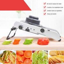 Ручная овощерезка многофункциональная Терка с регулируемым 304 Нержавеющаясталь лезвия для овощей фруктов Кухня инструменты