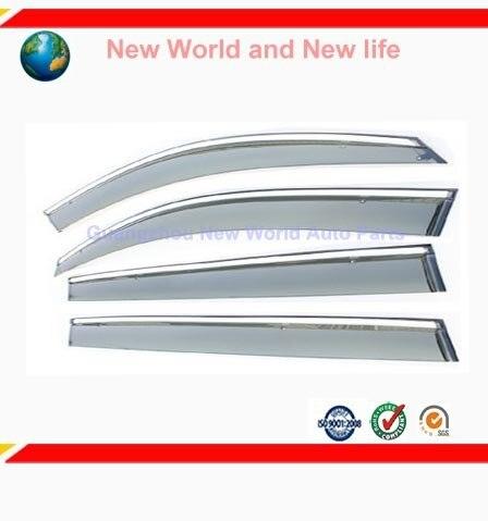 4 PCS Novo Carro etiqueta da janela Toldos Abrigos Sol Exterior/capa de Chuva produtos de decoração acessório fit para Lacross de prata