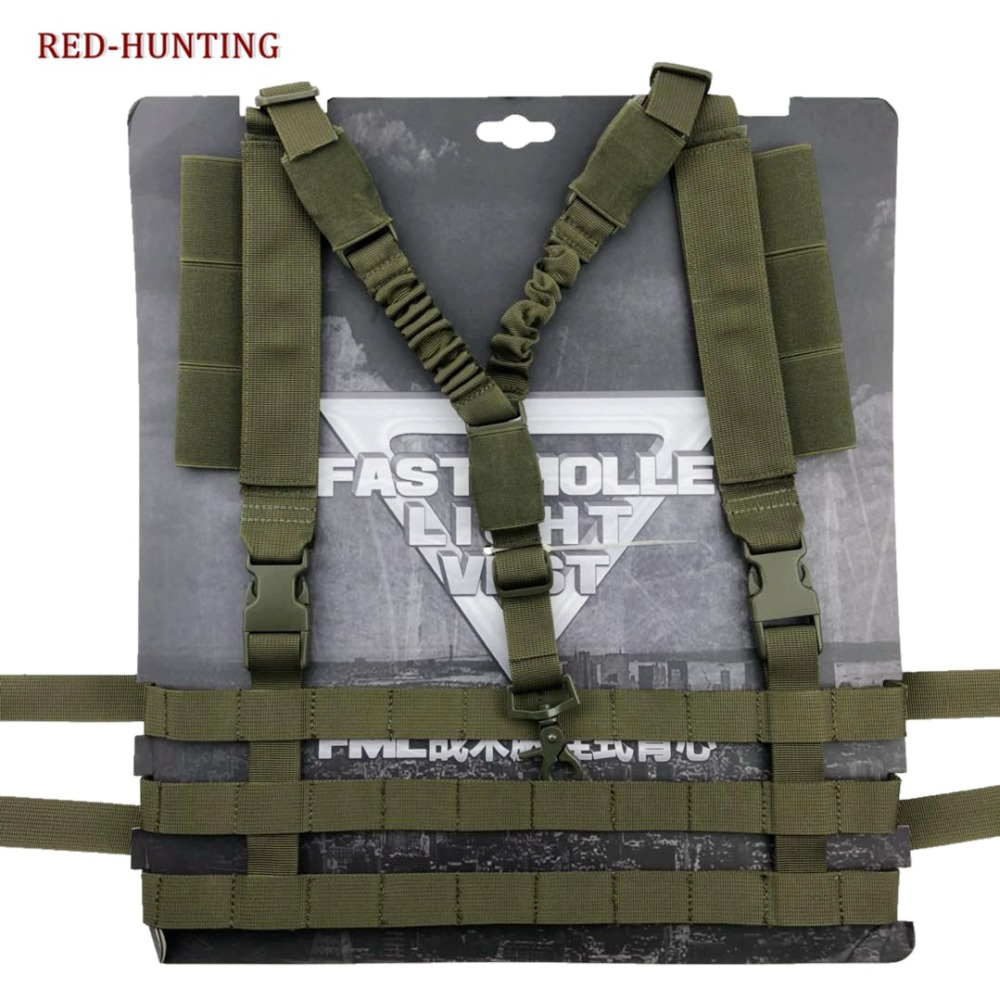 Military Airsoft Combat MOLLE System Low Profile Chest Rig Easy-carrying