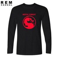 Nuevo Juego Mortal Kombat Hombres Camiseta MK Hombre Dragón camiseta SUB-ZERO CLÁSICO Cuello Redondo de manga Larga T-shirt Caliente venta