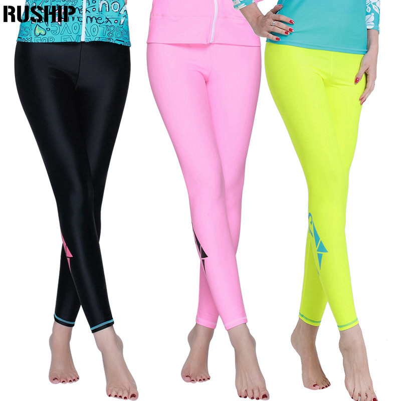 SBART Wome Surf Top Diving long pants Rashguards Swimsuit Sunscreen Swimming Rash Guard long Pants beach pants, surfing swimming