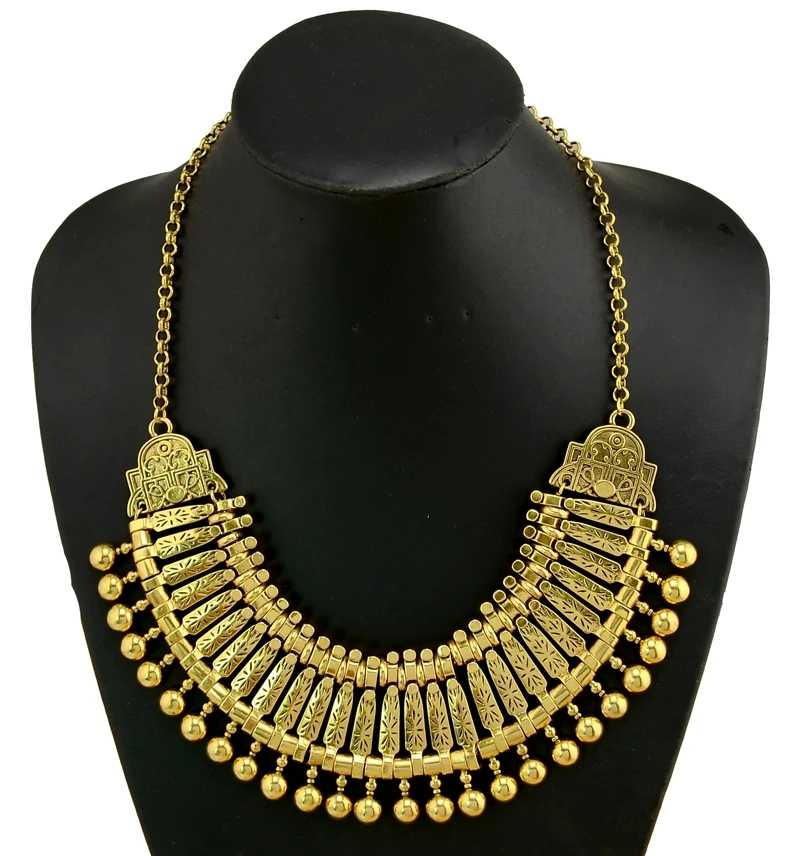 Gypsy Kundan Chunky Choker Beaded Bib Statement Necklaces & Earring Jhumka For Women Collar Maxi Afghan Pakistan Indian Jewelry