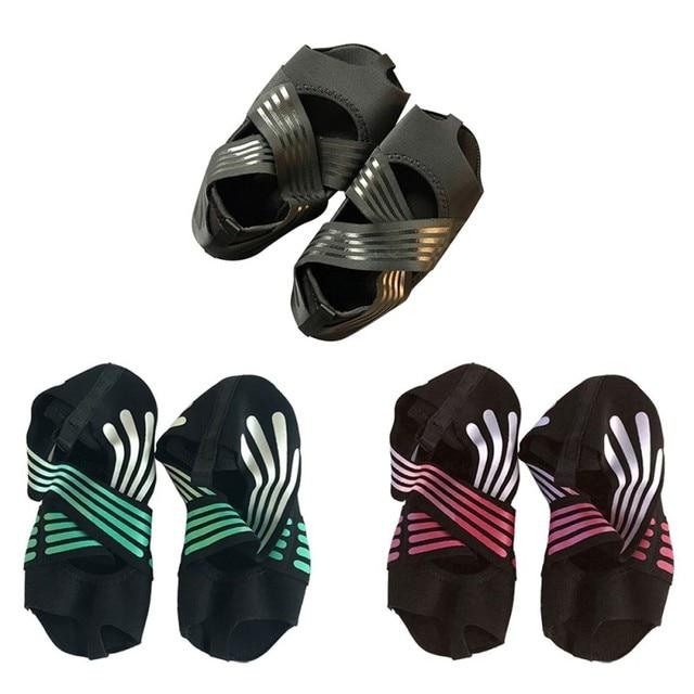 Professional Yoga Shoes Socks Anti-slip Breathable Sweat Absorption Elastic Belt Hosiery Sports Dance Footwear 4
