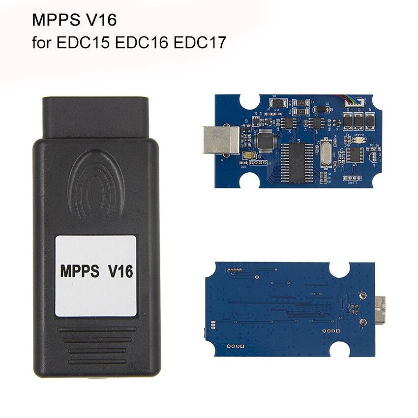 Автомобиля диагностический Кабели MPPS V16 ECU чип-тюнинг инструмент для EDC15 EDC16 EDC ...