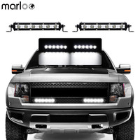 Marloo 2X 7 Inch Slim18W LED Light Bar With Mounting Bracket Offroad Driving Work Lamp SUV