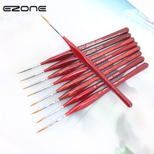 EZONE Red Wolf Paint Brush Line Drawing Pen Fine Hand-painted Hook Line Pen Sharp Tip Watercolor Drawing Brush Oil Art Supplies все цены