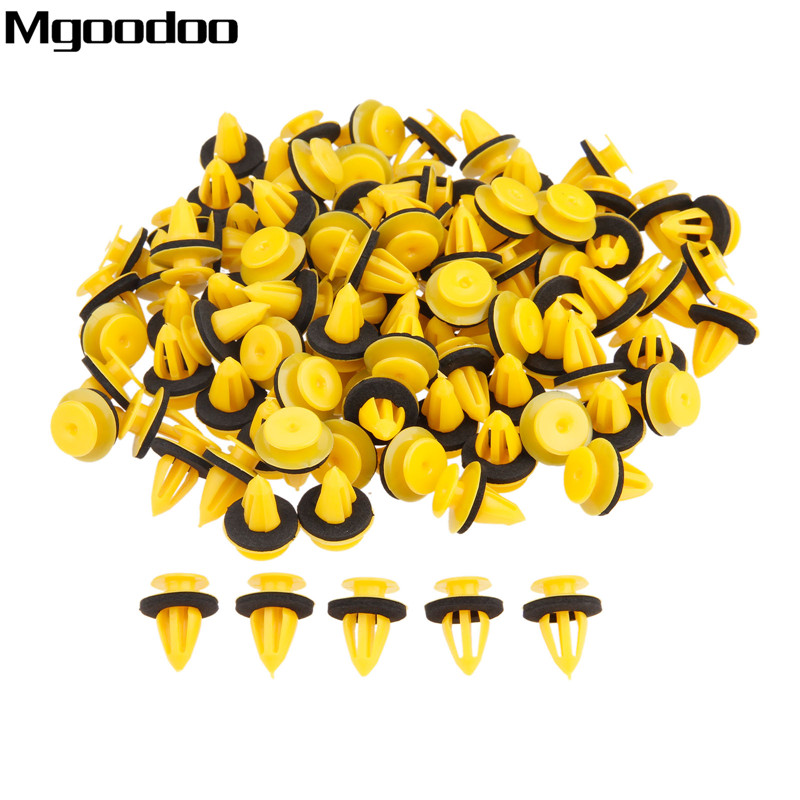 100PCS 10mm Auto Door Trim Panels Fastener Clips Plastic Fit For Volkswagen VW Golf Land Rover Range Chevrolet