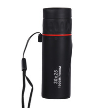 лучшая цена Mini HD Optical Monocular Telescope Low Night Vision Waterproof Portable Focus Telescope Zoomable 10X Scope for Travel Hunting