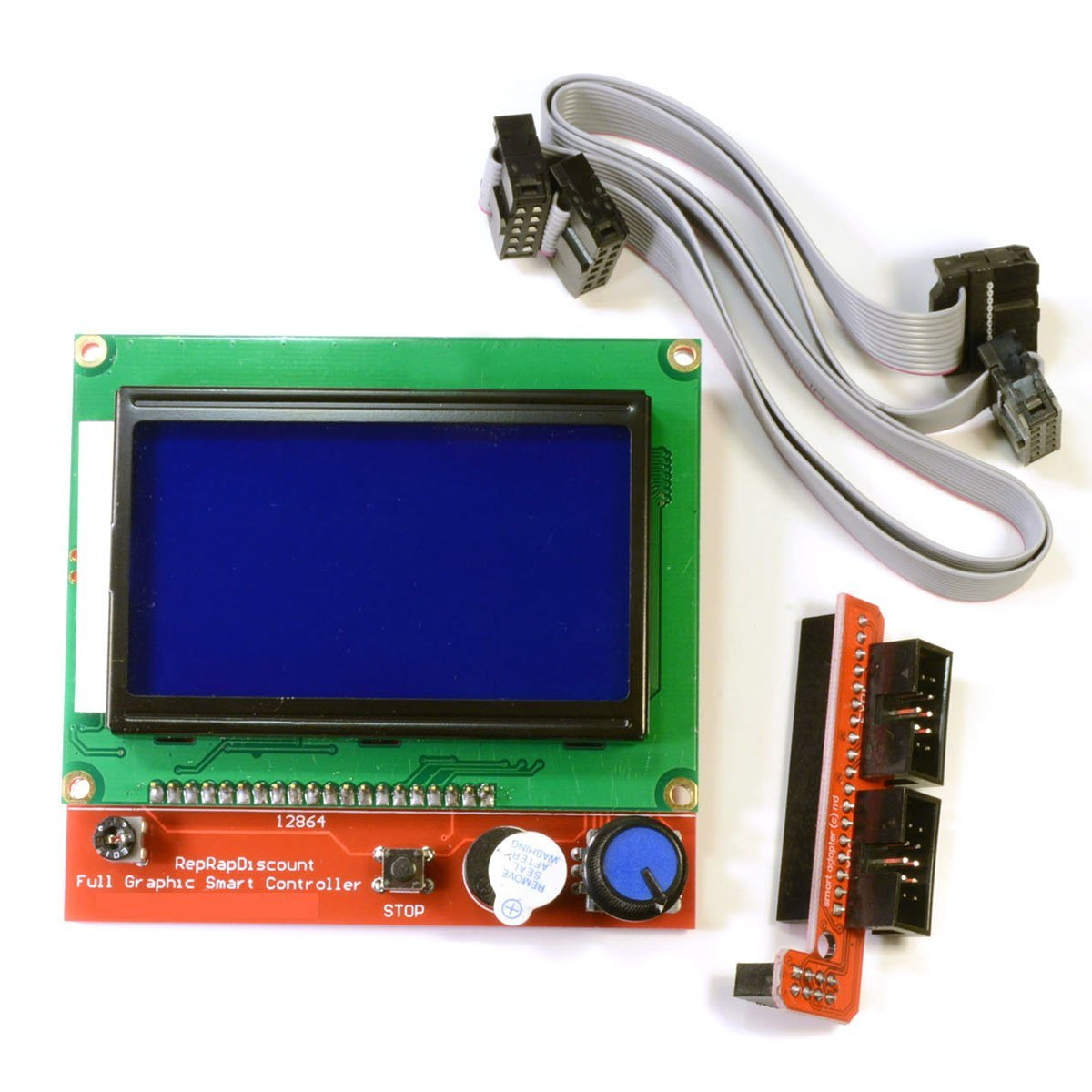 Full Graphic Smart Controller LCD Display for RAMPS 1.4 RepRap 3D Printer Electronics (12864 display with SD card reader)