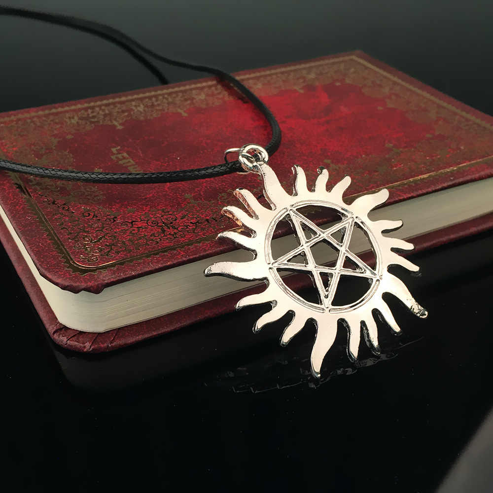 Five-pointed Star Sun Pendant Necklace Supernatural Star Evil rope-chain Necklace for man or woman fasion jewelry 2017