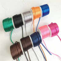 26Colors 2mmX10m/roll Strong Braided Macrame Silk Satin Nylon Cord Rope DIY Making Findings Beading Thread Wire 2mm